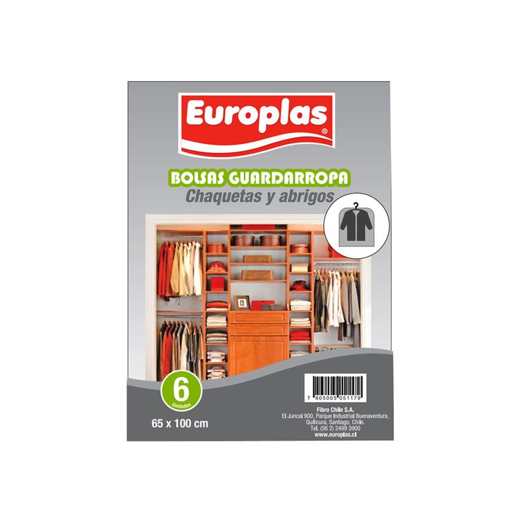 Bolsa-para-guardar-Ropa-Europlas-Especial-Chaquetas-6-Unidades-de-65-cm-x-100-cms