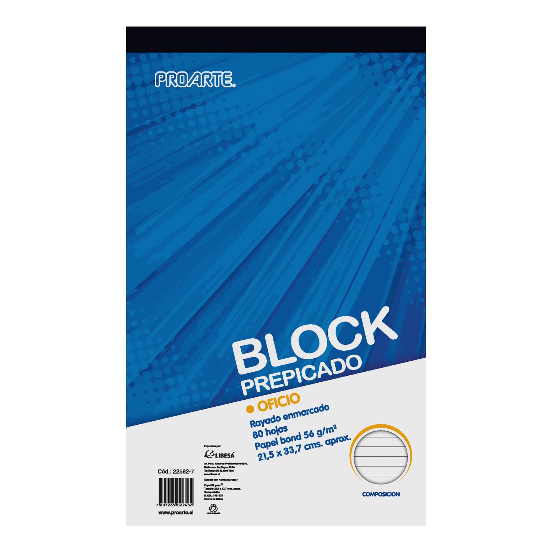 Block Prepicado Oficio Proarte 80 hojas, Composición | Jumbo.cl - Jumbo