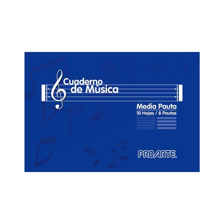 Cuaderno de Música Proarte Color Media Pauta 8 pautas 10 hojas ...