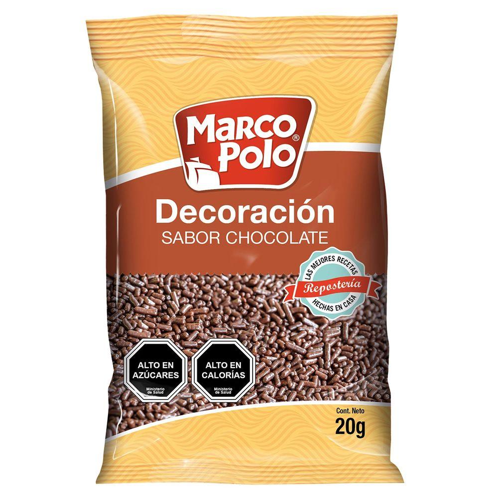Decoraci n chocolate marco polo sobre 20 g jumbo for Marco polo decoracion
