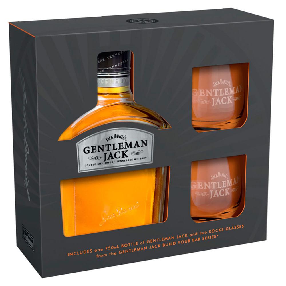 Whisky Gentleman Jack 750 Cc Vaso Jumbo # Muebles Para Guardar Whisky