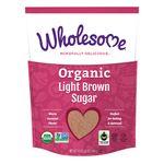 Azúcar orgánica rubia Wholesome, 680 g