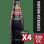 Pack 4 un. cerveza negra 5.6° 330 cc c/u