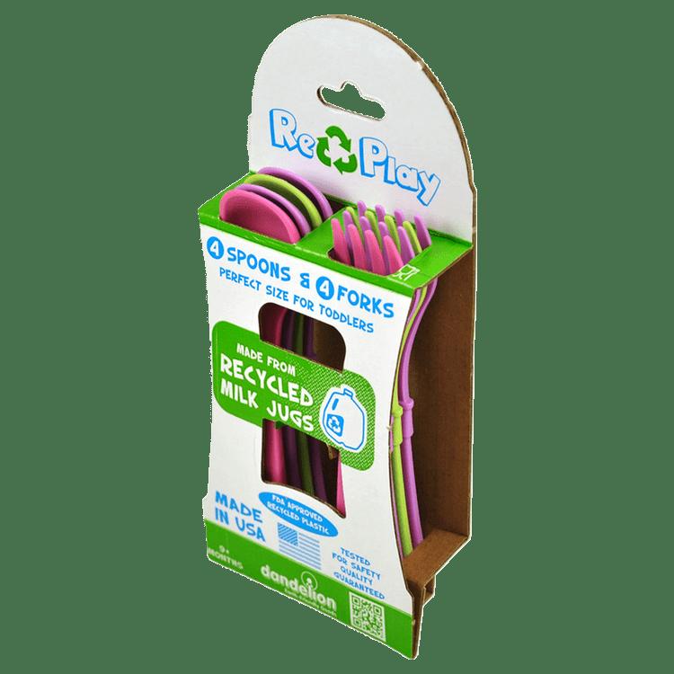 Pack-de-cubiertos-Replay-Recycled-4-cucharas-y-4-tenedores-fucsia-variado-1-15200526