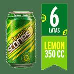 Pack 6 un. cerveza limón lata 350 cc c/u