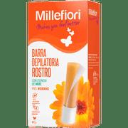 Barra depilatoria Millefiori 38 g, rostro y pequeñas áreas, para piel normal