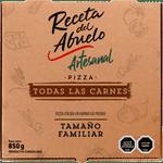 Pizza artesanal carnes congelada 850 g