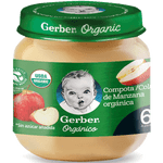 Compota orgánica manzana frasco 113 g