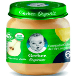 Compota orgánica pera fraco 113 g