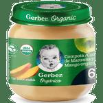 Compota orgánica manzana y mango frasco 113 g