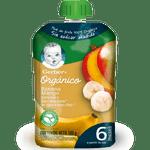 Compota orgánica de plátano mango pouch 100 g