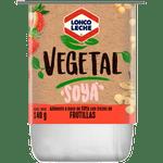 Yoghurt vegetal soya trozos frutilla 140 g