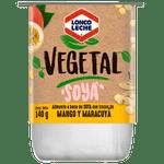 Yoghurt vegetal soya trozos mango maracuyá 140 g