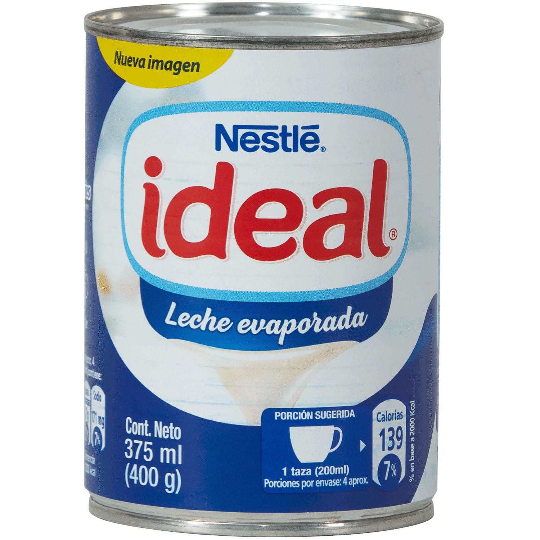 Leche Evaporada Nestlé Ideal Lata 400 G Jumbo Cl