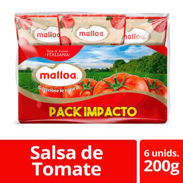 Salsa de tomate italiana 6 un. 200 g