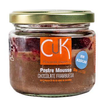 Mousse chocolate frambuesa sin azúcar y sin lactosa 120 g